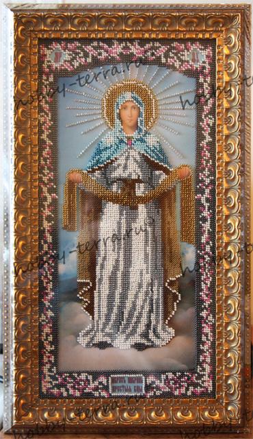 икона-Покров-Присвятой-Богородицы-вышитая-бисером