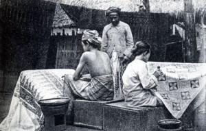 изготовление-батика---Ява---1915-год