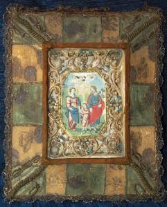 Древняя икона украшенная в технике