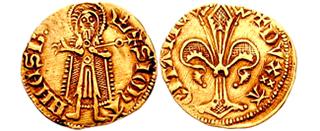 Первая-золотая-монета-Великобритании-флорин