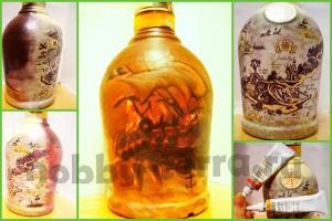 Декор-бутылки-прямой-декупаж