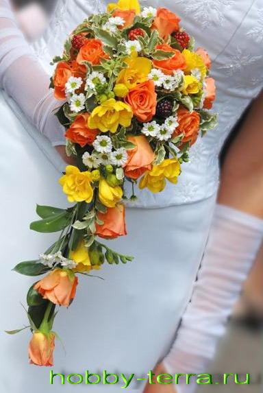 Свадебный букет Каскад