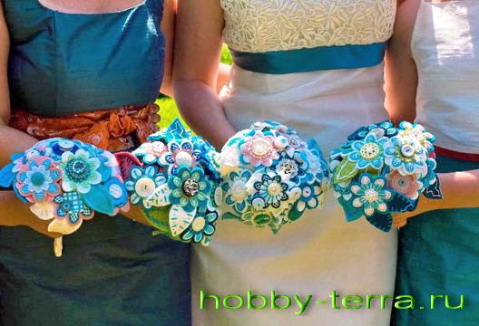 Свадебный букет подружек невесты