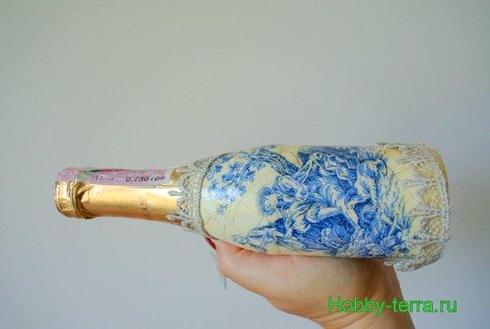 16-Staryye vospominaniya. Ideya dekorirovaniya butylki shampanskogo