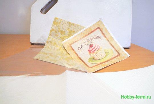 Ideya dekorirovaniya razdelochnoy doski «Vishnevoye pirozhnoye»-4
