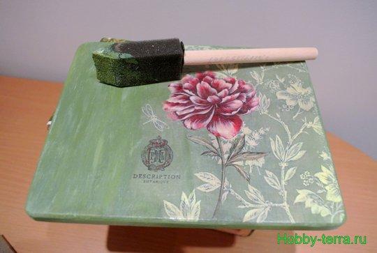 Ideya dekorirovaniya shkatulki «Korolevskiy pion»-10