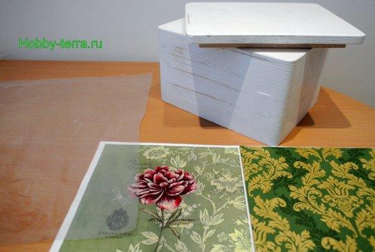 Ideya dekorirovaniya shkatulki «Korolevskiy pion»-5