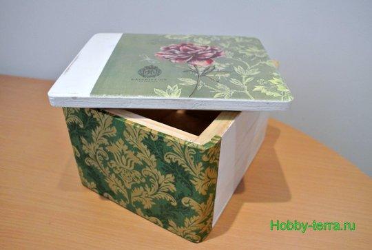 Ideya dekorirovaniya shkatulki «Korolevskiy pion»-7