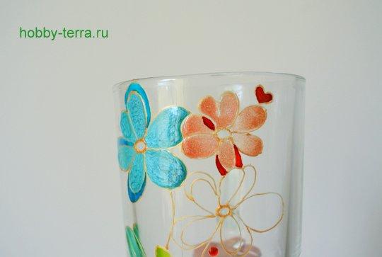 09-2014-12-01_Ideya po dekorirovaniyu kruzhki vitrazhnymi kraskami Volshebnyye tsvety