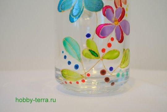 19-2014-12-01_Ideya po dekorirovaniyu kruzhki vitrazhnymi kraskami Volshebnyye tsvety