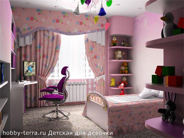 Оформление детской для девочки