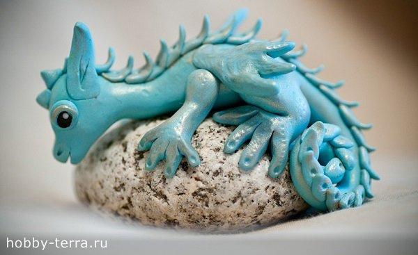 Дракон из полимерной глины