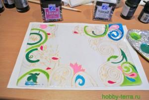 08-Ideya dekorirovaniya oblozhki dlya pasporta vitrazhnymi kraskami