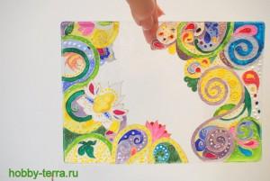 14-Ideya dekorirovaniya oblozhki dlya pasporta vitrazhnymi kraskami