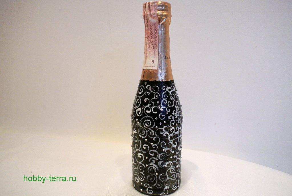 Идеи декорирования бутылок фото