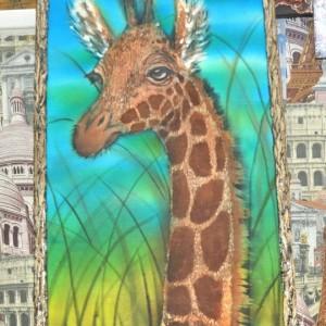 картина батик жираф