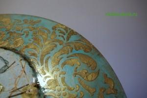 26-2015-04-20 Ideya dekorirovaniya chasov Poyet nad rozoyu vostochnyy solovey