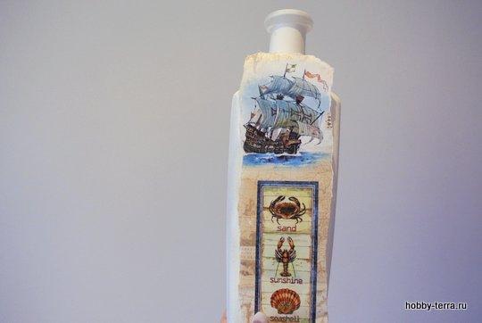 03-_Ideya dekorirovaniya butylki Morskoy briz