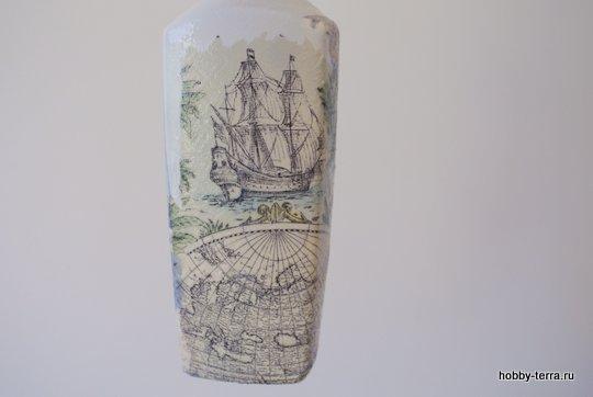 05-_Ideya dekorirovaniya butylki Morskoy briz
