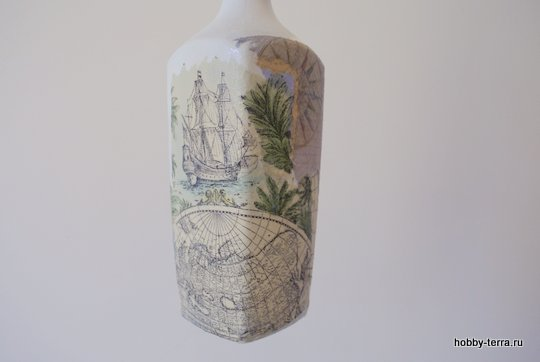 06-_Ideya dekorirovaniya butylki Morskoy briz