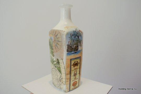 07-_Ideya dekorirovaniya butylki Morskoy briz