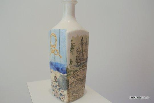 09-_Ideya dekorirovaniya butylki Morskoy briz