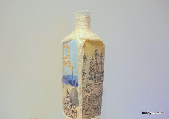 12-_Ideya dekorirovaniya butylki Morskoy briz