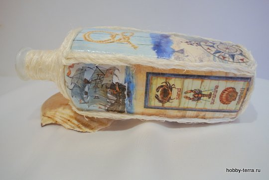 14-_Ideya dekorirovaniya butylki Morskoy briz