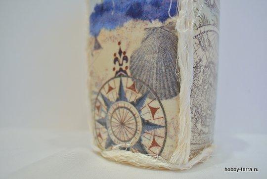 16-_Ideya dekorirovaniya butylki Morskoy briz