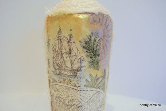 18-_Ideya dekorirovaniya butylki Morskoy briz