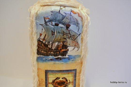 19-_Ideya dekorirovaniya butylki Morskoy briz
