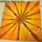 батик платок Оранжевая абстракция