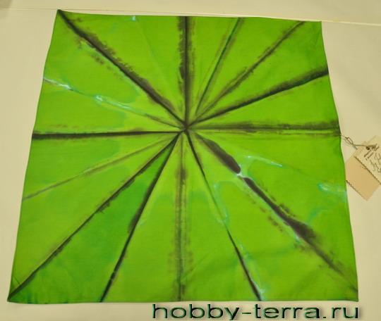 батик платок Зеленая абстракция