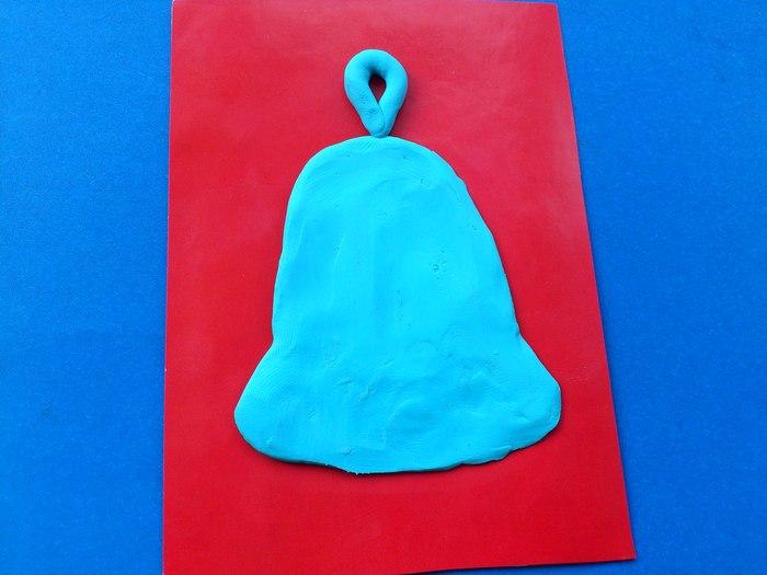 Новогодняя открытка из пластилина
